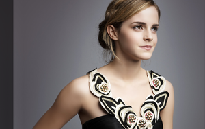 Emma Watson wall with sidebar by bournstar69