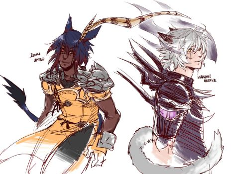 FFXIV Sketches by Ruthea
