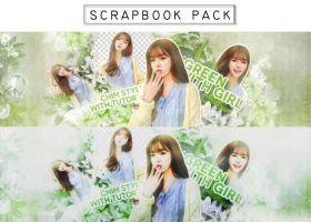 Scrapbook Pack_ GREEN WITH GIRL by Never-Be-Mine