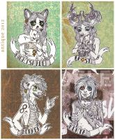 faux badges: nightshade, ghost, horker, kohta by sugarpillRx