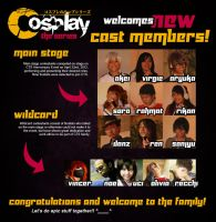 CTS Welcomes New Cast Members! by cosplayts