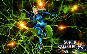 Super Smash Bros. Wii U / 3DS - Zero Suit Samus by Legend-tony980