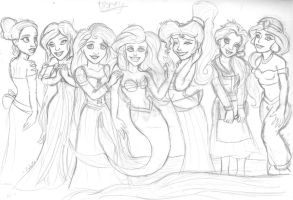 fave Disney gals by Moon-Shyne