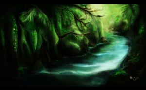 Forest River by Nhuey