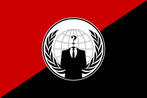 Anonymous Anarchist Flag by anondesign