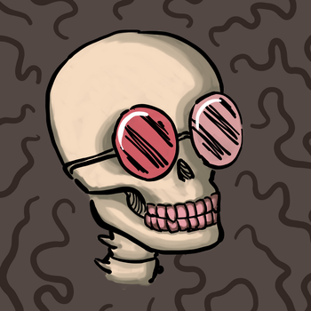 Skull with cool glasses v2 by astamite