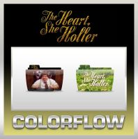 Colorflow The Heart, She Holler Folders by TMacAG