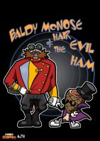 Baldy McNose Hair and the Evil Ham by ajhockham