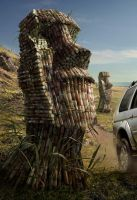 Pajero Flex Moai CLOSE by rafajija