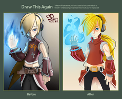 Blue flame (Draw this Againg Challenge) by spartworks