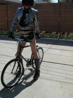 Bicycle Rider Gone Bad by dude-girl