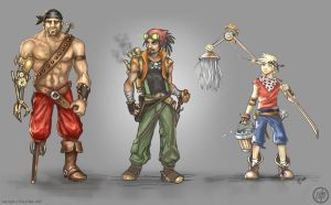 Steampunk Pirate Boys by Vermin-Star