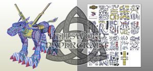 Next Papercraft : MetalGarurumon Preview 1 by HellswordPapercraft