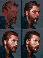 Tom Hardy Process by AaronGriffinArt