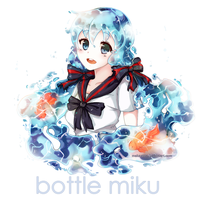 Bottle Miku by MeluuArts