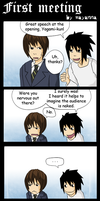 Death Note: First meeting by mayanna