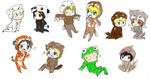 Hetalia National animals by FourDirtyPaws