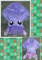 Fuzzy Squid Pillow Plush by mihijime