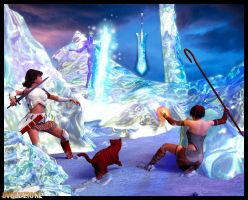 Quest for the Ice Sword by evoluzione