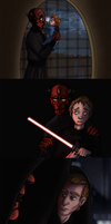 Reverse Sith: Master Maul and Apprentice Palpatine by Teq-Uila