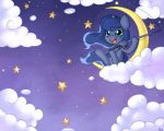Chibi Luna - Star Fishing by Bukoya-Star