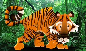 Tiger in the jungle by See-past-the-madness