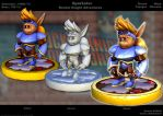 Sparkster 3D Modeling Front by sterna