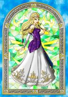 Stained Glass Zelda by LicieOIC