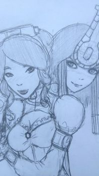 Neith x Serqet by Wolf-Reaper