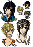Greek Modernology - Supporting Characters by Cazuuki