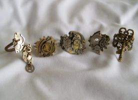 Steampunk Rings by Ronigirl