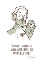 Jim Henson and Kermit The Frog by True-Believer