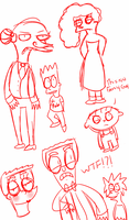 Simpsons sketches by Sapphire-Asters