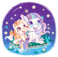 Pebbles and Milkyway by Miss-Glitter