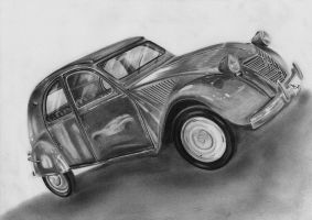 Citroen 2CV6 by resistanceispointles