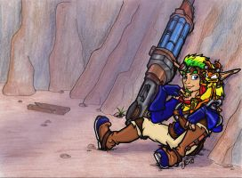 Jak and Daxter-sitting it out by Silverspegel