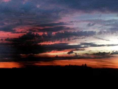 Photo: Red Blue Scenery On the Way (Sunset) by Fosterlane