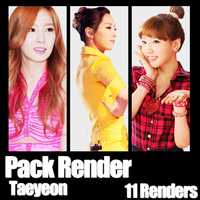 Taeyeon | Pack Render 1 by AnnyPark