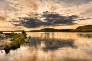 Sunset at wild horses lake 1 by Yupa