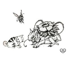 Sketches: Venusaur, Growlithe, Beedrill by PokeShoppe