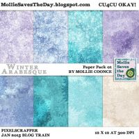 Winter Arabesque Paper Pack 1 by Mollie-Coonce