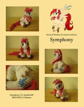 Knitted Plushies - Symphony (OC) by haselwoelfchen