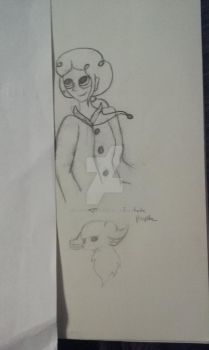 Human practice sketch and a truthful wolf by ArtisticDragon531