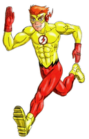 Kid Flash - Color - Commission by 09tuf