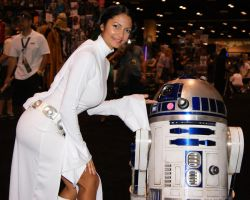 Princess Leia and R2-D2 by Ivy95