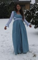 Blue dress in Snow 7 by NaomiFan
