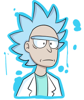 rick // rick and morty // by ponydraw1234