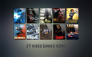 Icons Pack 1 - 27 Video Games Icons by FaceTw0