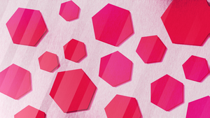 Background - Hexagons Bright Pink/Red by MooseOnTheRocks