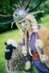 Ruffnut and Shaun the Sheep by Elfen-Lena